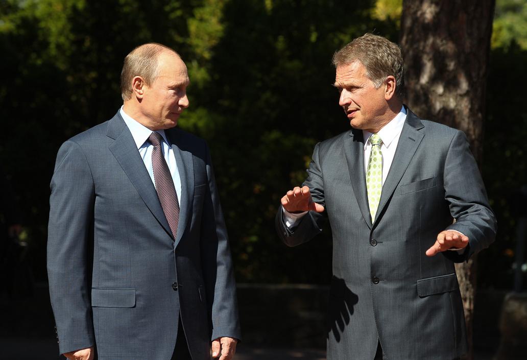 Vladimir Putinin Suomen-vierailu kesällä 2013 sujui vielä varsin aurinkoisissa tunnelmissa. // KUVA: TASAVALLAN PRESIDENTIN KANSLIA