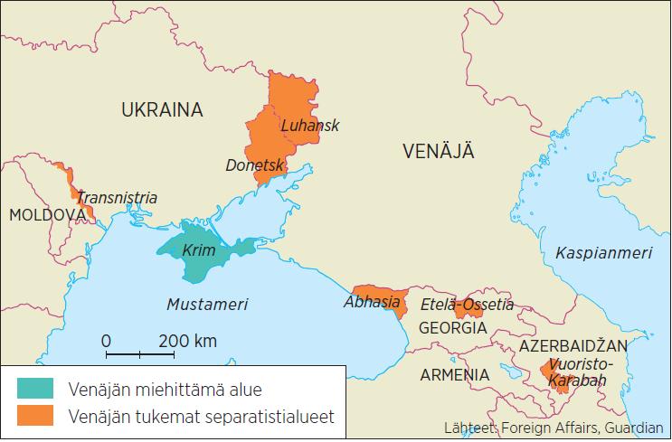 Euraasian separatistialueet