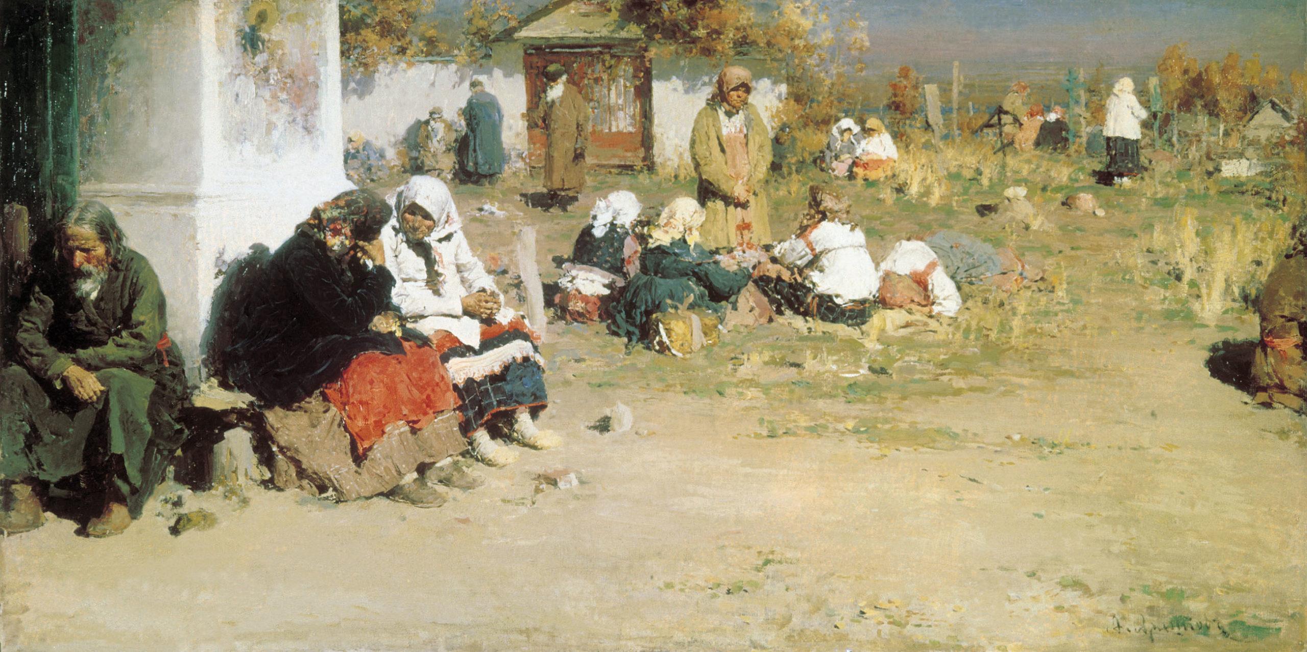 Abram Arhipov: Radonitsa ennen liturgiaa (1892).  KUVA: GOOGLE ART PROJECT