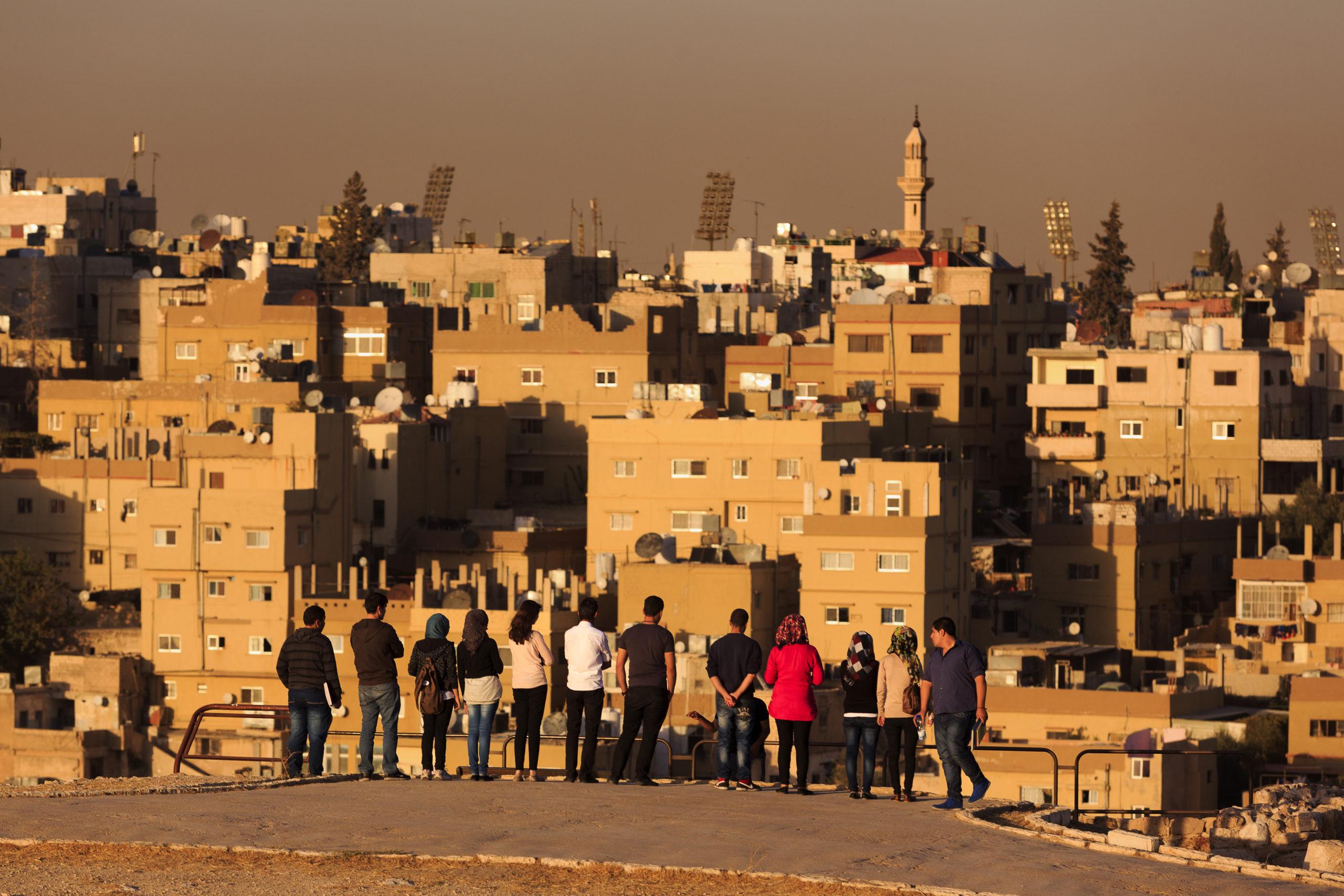 Amman. Turistien määrä on huvennut Jordaniassa arabikevään jälkeen. Samaan aikaan kasvava työttömyys on synkistänyt ilmapiiriä nuorison keskuudessa. /Kuva: All over press/Paolo Giocoso