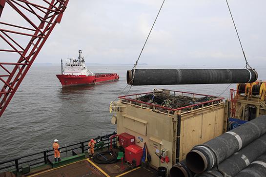 Nord Stream -putken rakentaminen Itämeren pohjaan aloitettiin vuonna 2010. Käyttöön putki otettiin 2012.