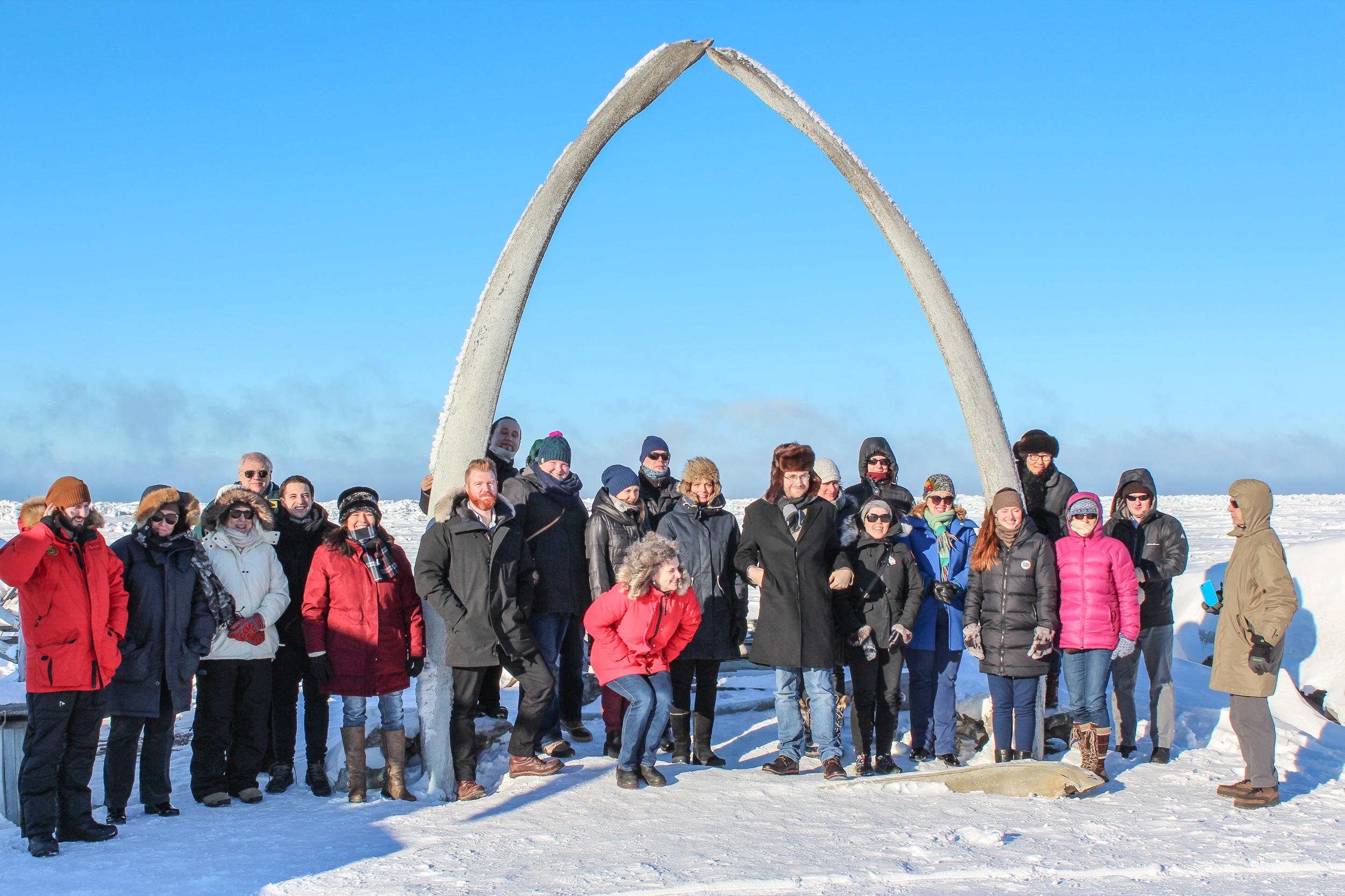 Kestävän kehityksen työryhmä kokoontui vuosi sitten Alaskassa. Arktisen neuvoston työryhmät ovat noin 50 hengen suuruisia.  Kuva: Arctic council secretariant / Kseniia Iartceva