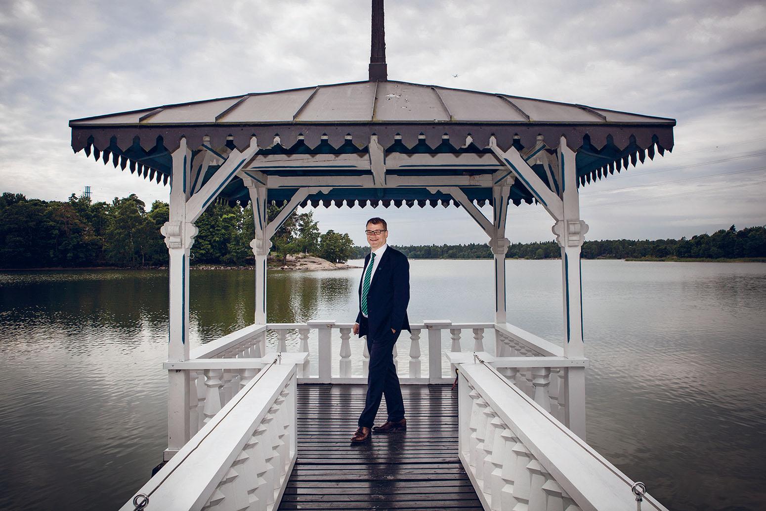 Pääministeri Juha Sipilä Kesärannassa.