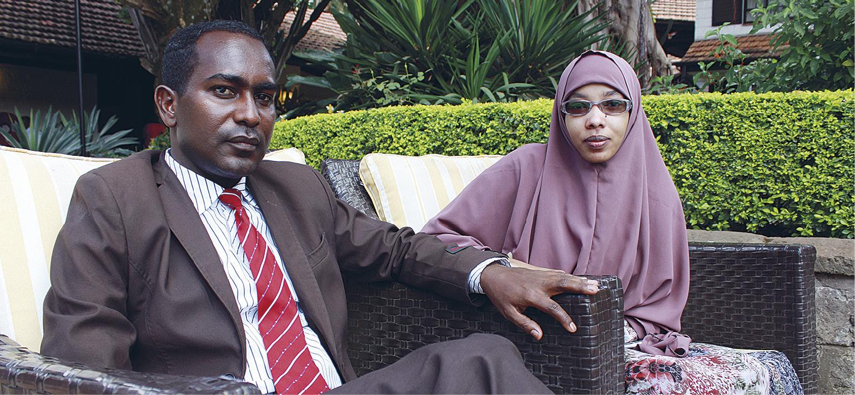 Abdalla Ahmed Mumin (vas.) ja Waris Mohamed asuvat pakolaisina Nairobissa.