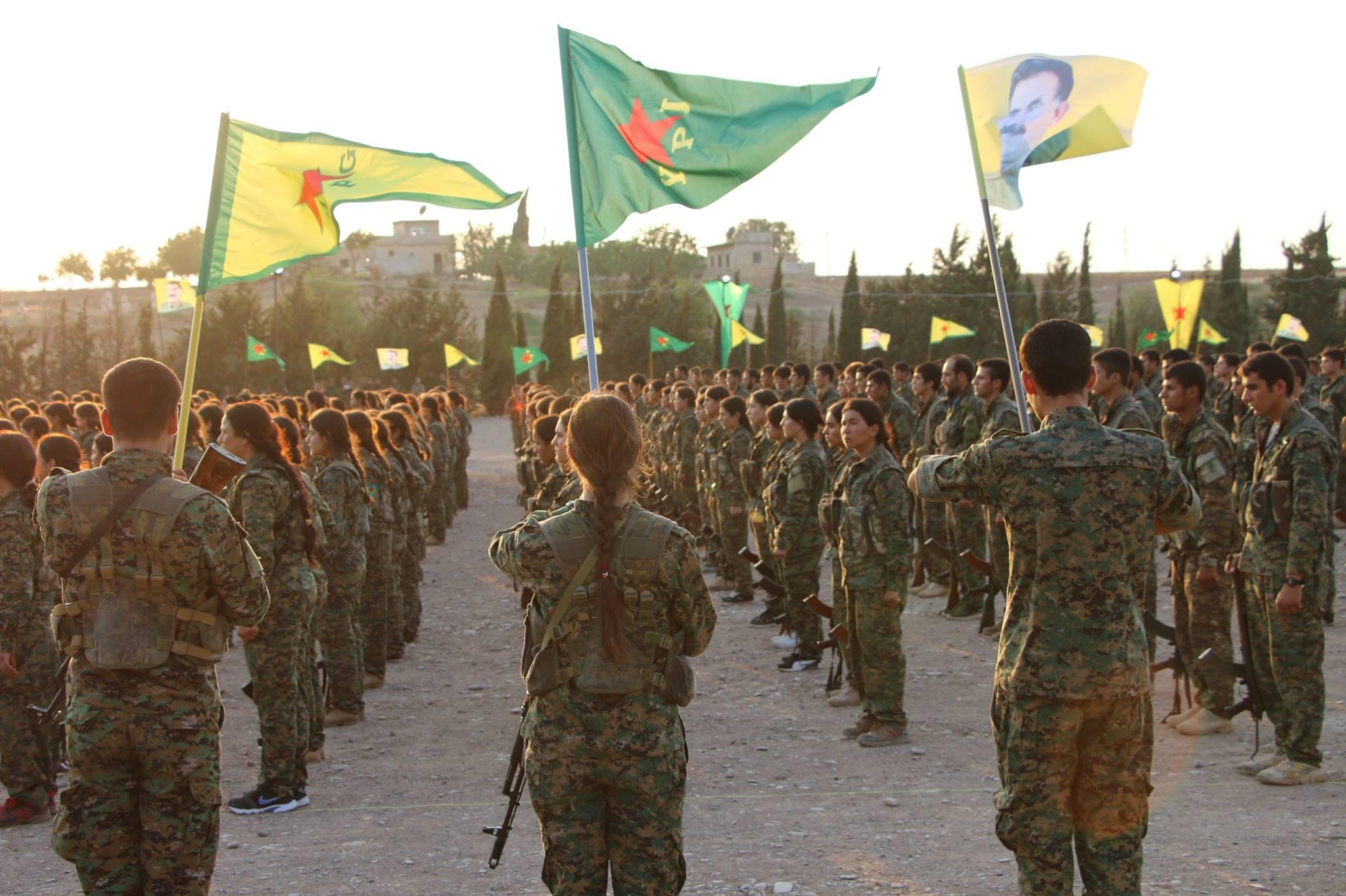 YPG:n ja YPJ:n kurditaistelijoita elokuussa 2016. Kuva: Kurdishstruggle / Flickr