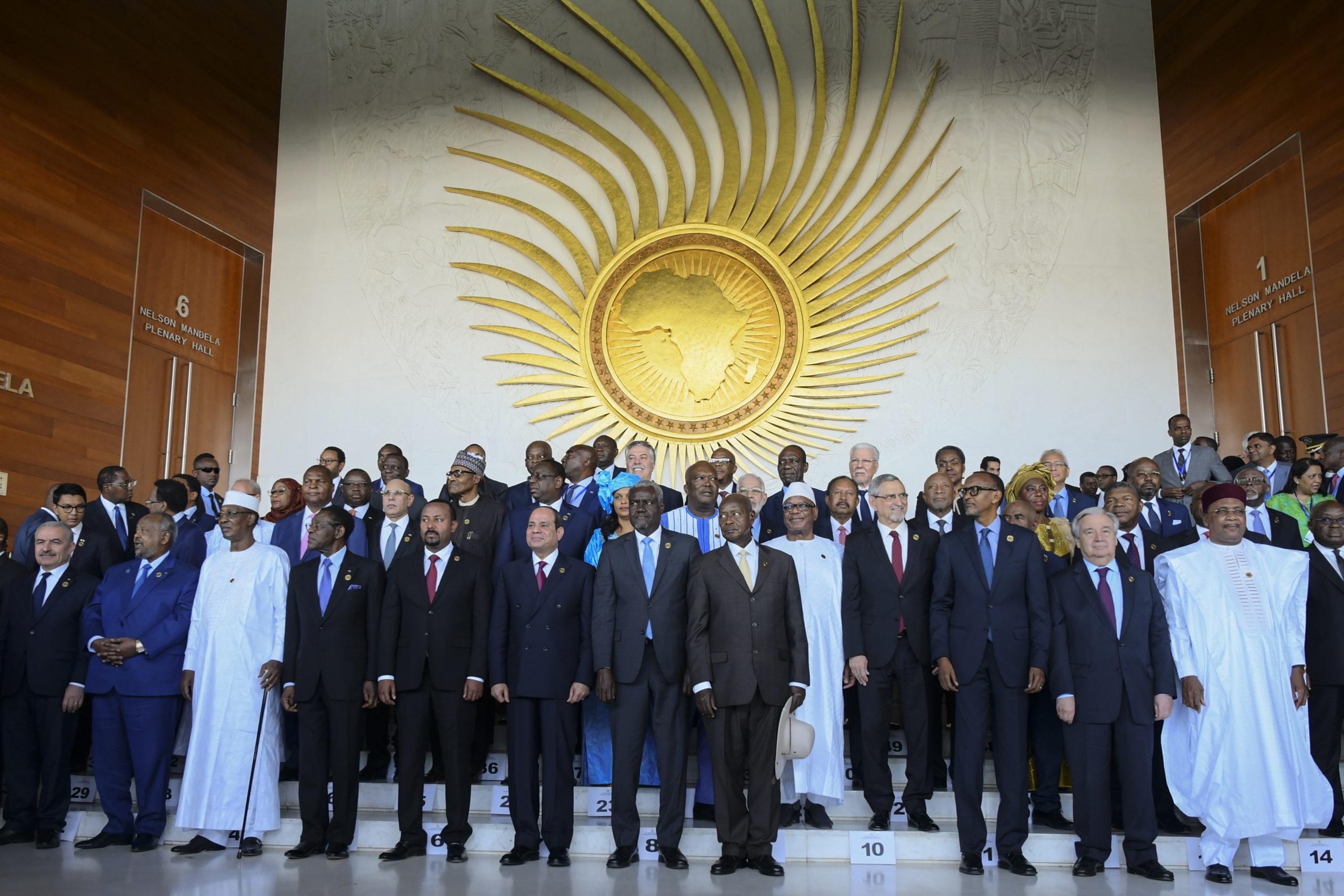 Afrikan unionin jäsenmaiden johtajat kokoontuivat Etiopian Addis Abebassa helmikuussa. Kuva: EPA-EFE/STR/All Over Press.