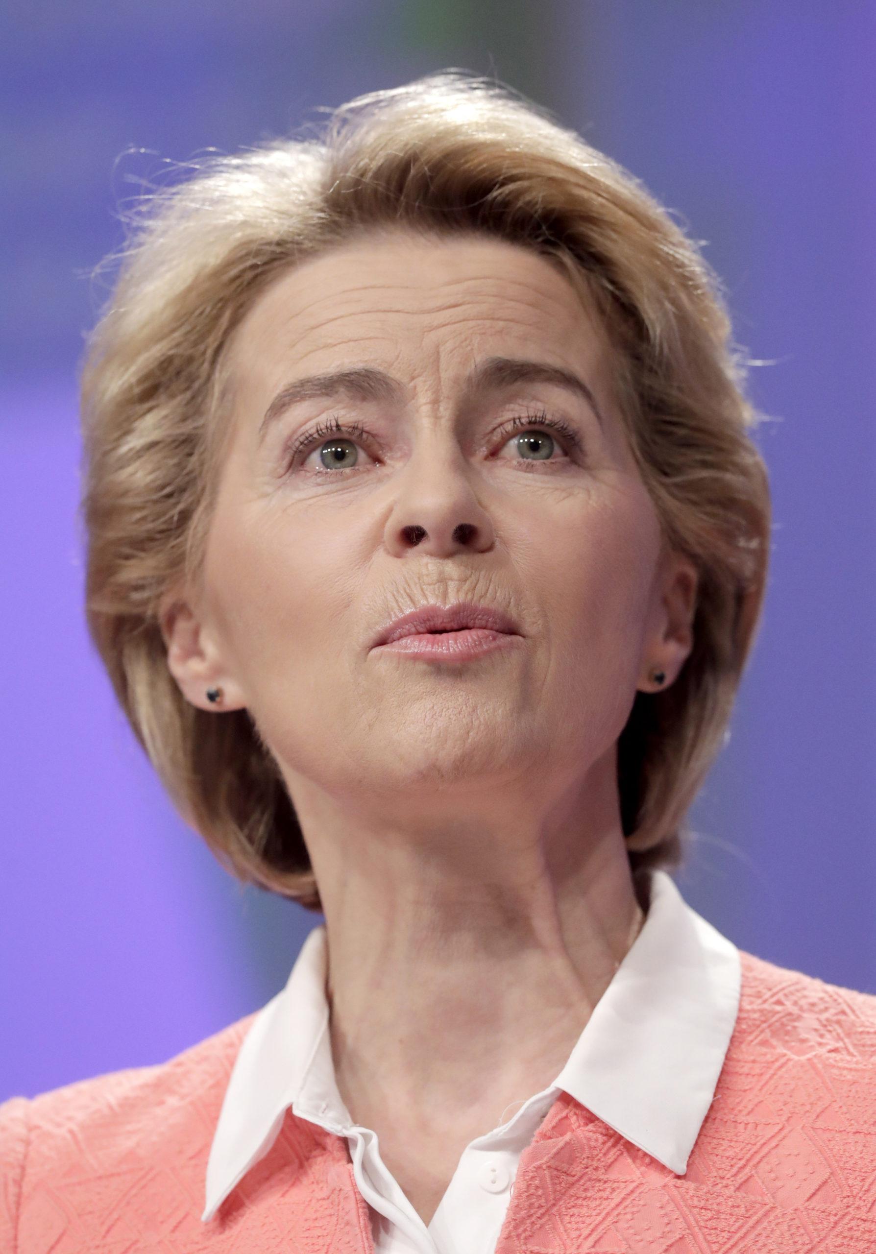 Ursula von der Leyen esitteli uuden »geopoliittisen» EU-komissionsa kokoonpanon Brysselissä syyskuussa 2019. Kuva: EPA/All Over Press