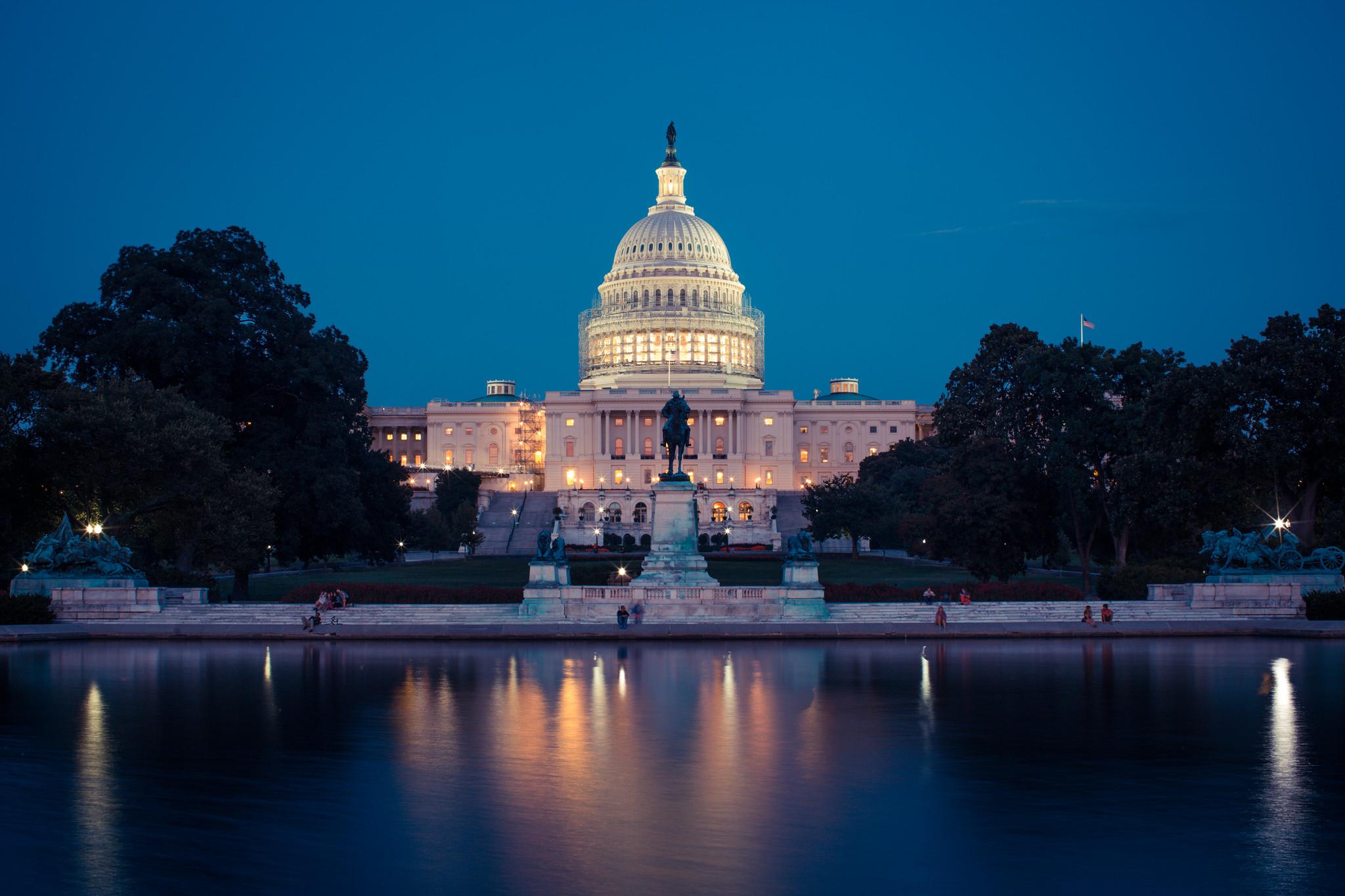 Washingtonin maamerkkeihin kuuluu kongressin päämaja Capitol-rakennus. Kuva: homas Hawk/Flickr
