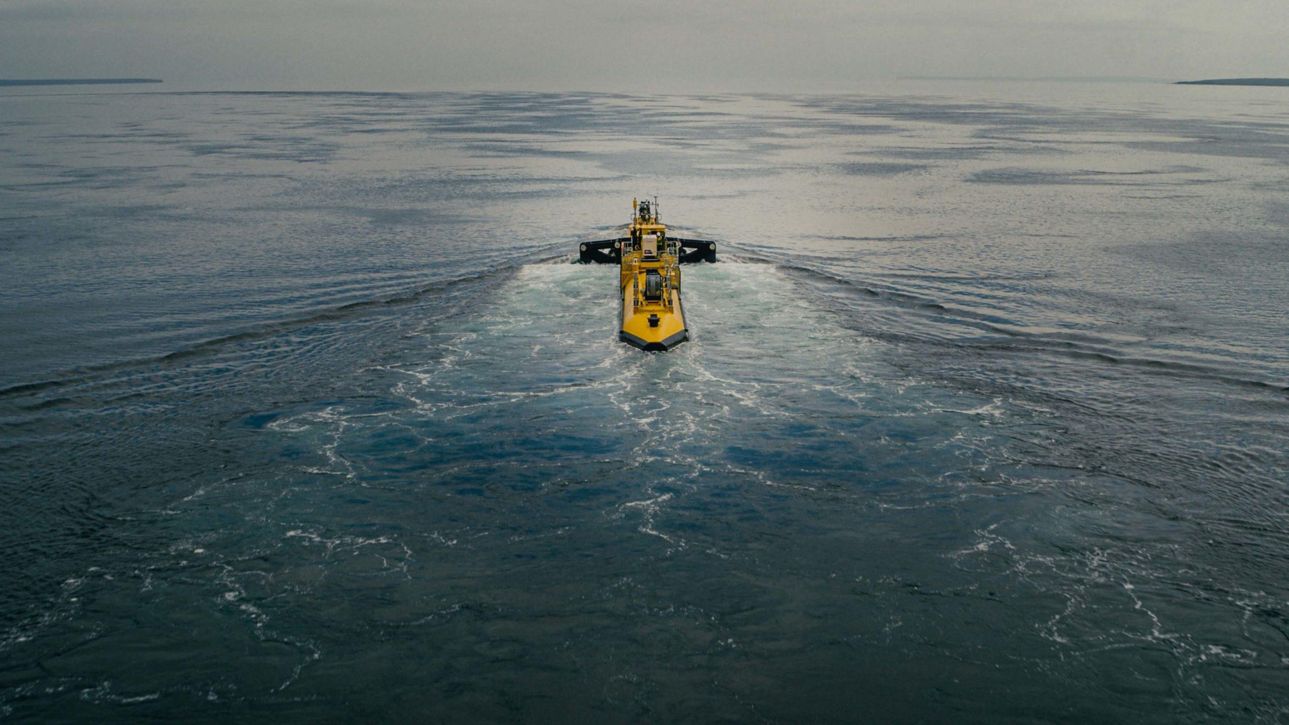 Kaupallista aalto- ja vuorovesigeneraattoria testataan Orkneysaarilla. Kuva: Orbital Marine Power