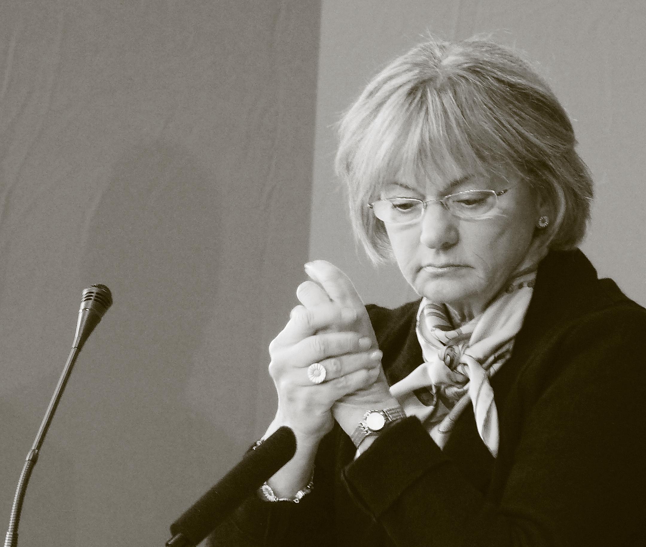 Kansanpuolueen puheenjohtaja Pia Kjærsgaard