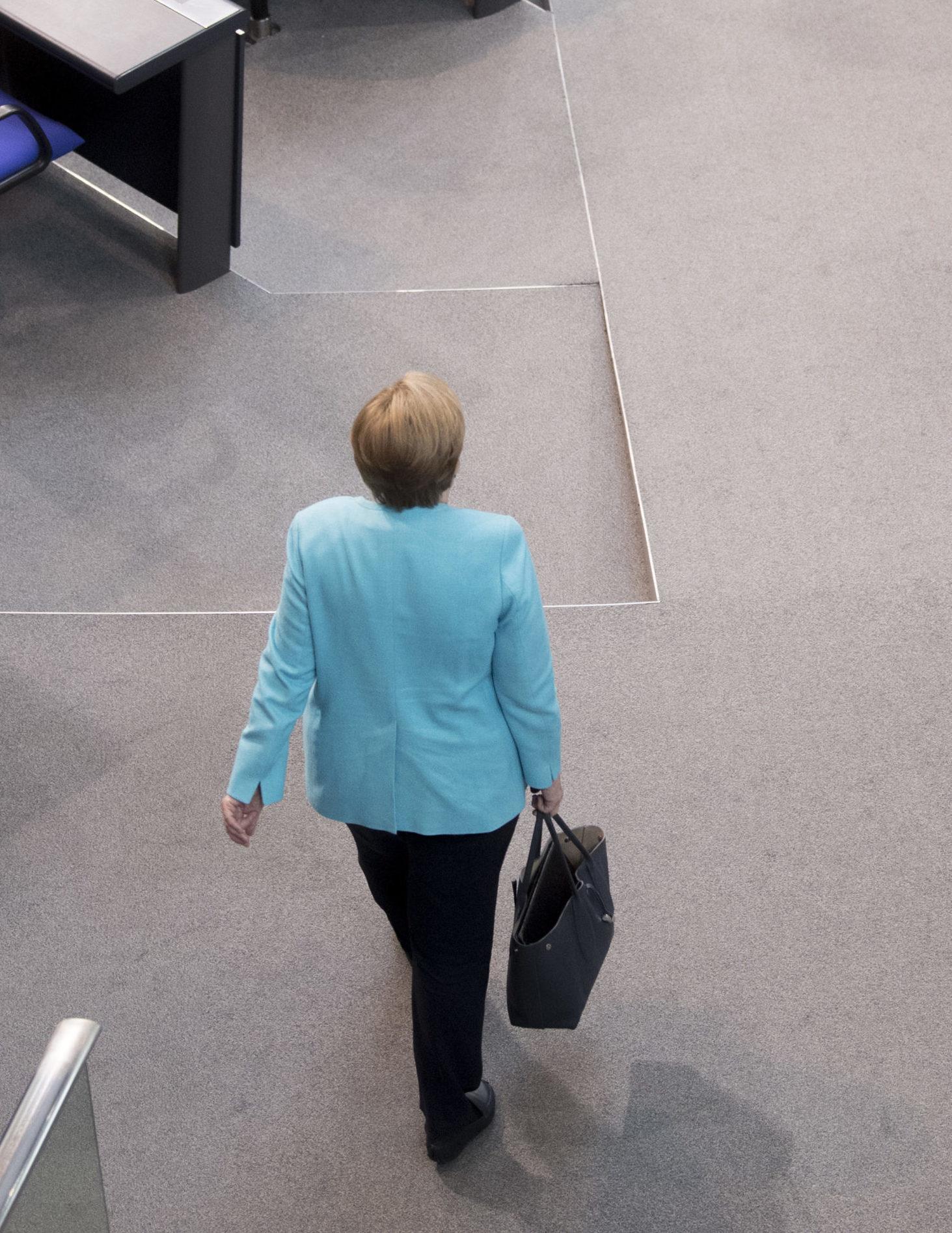 Angela Merkel ei ole halunnut olla muutosjohtaja, mutta hänen kaudellaan Eurooppaa on kohdannut kriisi toisen jälkeen. Kuva: Ullstein Bild/All Over Press