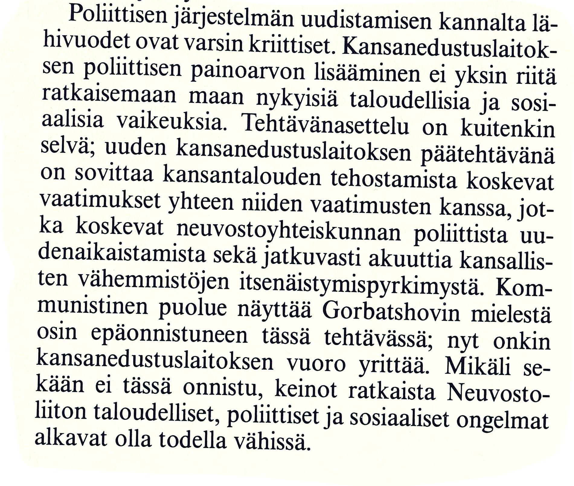 Ulkopolitiikka 3/1989, erikoistutkija Jyrki Iivonen