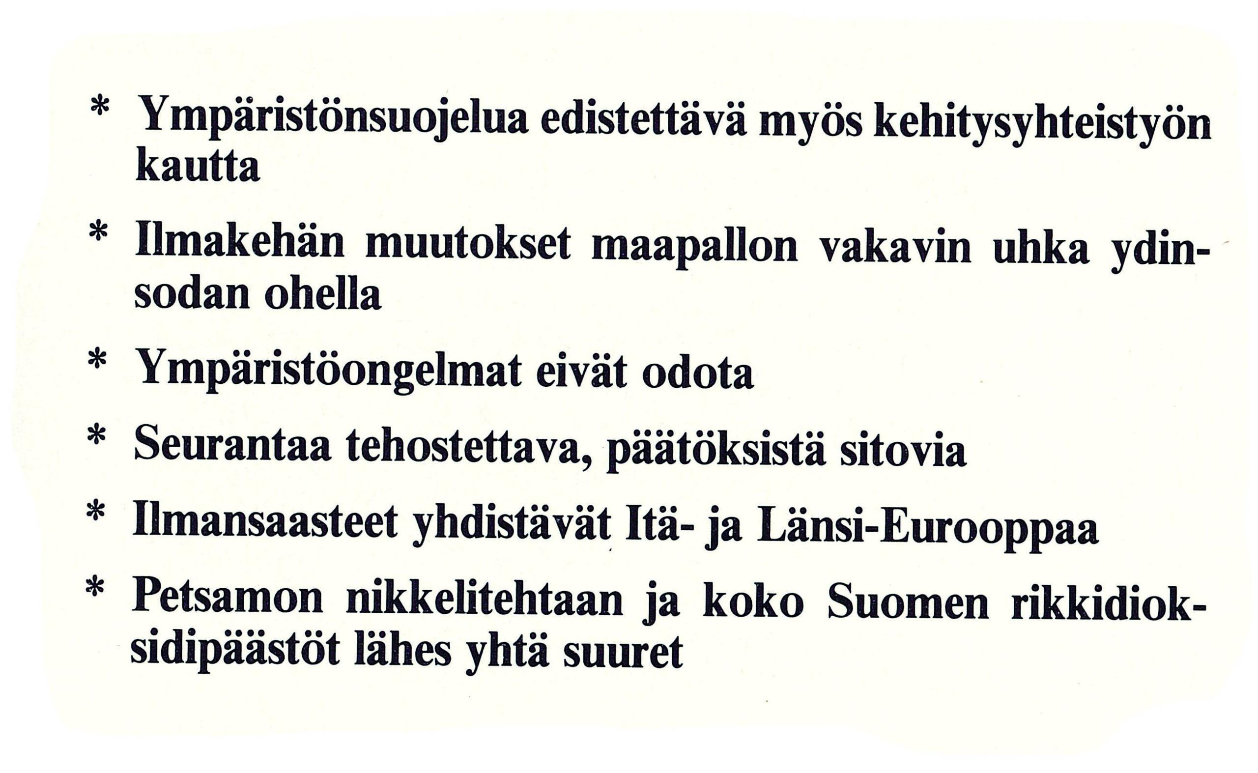 Ulkopolitiikka 3/1989, ympäristöministeri Kaj Bärlund (sd.)