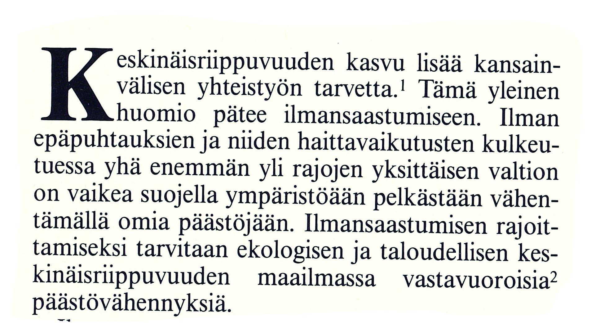 Ulkopolitiikka 4/1989, erikoistutkija Tapani Vaahtoranta